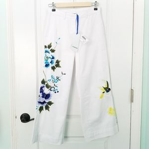 NWT P.A.R.O.S.H Pants Cropped Embroidered XS